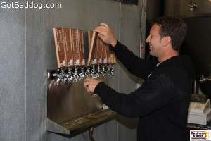 Rich pouring a stout