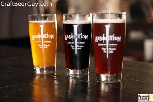 Three Absolution Brewing beers